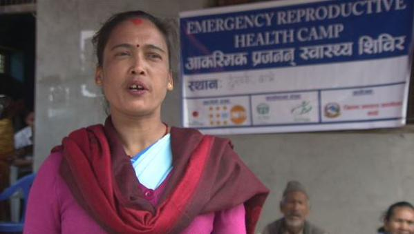 A local Female Health Community Health Volunteer (FCHVs), Aapsara Nepali,  says the services offered in the camp were much needed.