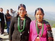 Women who came to attend a public hearing in Achham district on the effects of Chhaupadi on women's health for a TV programme earlier this month. Photo: UNFPA Nepal/Giri Panthi