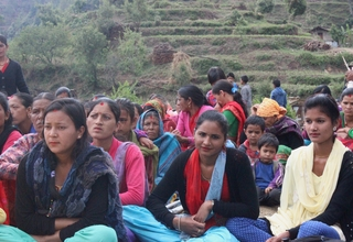 "Teenage girls like Priyanka Bhatta, 18, and Gomati Bhatta, 19, (from right to left) embody the strength and spirit of this year's World Population Day theme — ""Investing in teenage girls"". © UNFPA Nepal/SC"